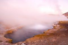 El Tatio gejzery w Atacama deserze Zdjęcia Royalty Free