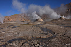 El Tatio geysers and hot waters Royalty Free Stock Photography