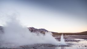 El Tatio geysers, near San Pedro de Atacama - Chile. El Tatio is a geyser field located in the Andes Mountains of northern Chile stock photography