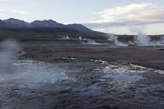 El Tatio Geysers. Sunrise at El Tatio Geysers near San Pedro de Atacama in Chile Stock Photos