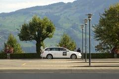 El taxi en Spiez, Suiza Imagen de archivo libre de regalías