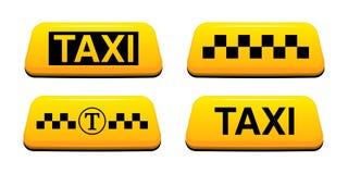 El taxi firma el ejemplo del vector Ejemplo del vector del servicio del taxi ilustración del vector