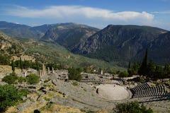 El teatro antiguo, Delphi, Grecia Imagen de archivo