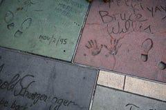 El teatro chino de Grauman, Hollywood, Los Ángeles, los E.E.U.U. Imagen de archivo