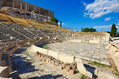 El teatro de Dionysos, Grecia Fotografía de archivo