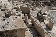 El teatro de Dionysus Eleuthereus en el pie de la acrópolis, Atenas imagen de archivo