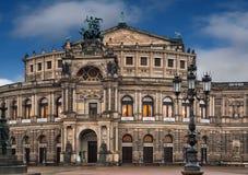 El teatro de la ópera de Semper en Dresden Fotografía de archivo libre de regalías
