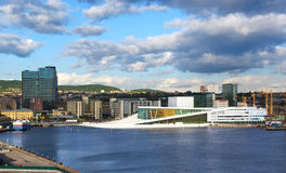 El teatro de la ópera en Oslo. Fotos de archivo