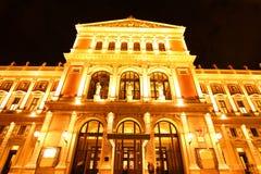 El teatro de la ópera en Viena imagen de archivo