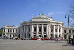 El teatro de la corte imperial de Burgtheater es el teatro nacional austríaco en Viena imagen de archivo