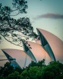 El teatro de la ?pera de Sydney imágenes de archivo libres de regalías