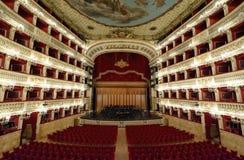 El teatro de San Carlo en Nápoles Fotografía de archivo libre de regalías