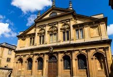 El teatro de Sheldonian, situado en Oxford, Inglaterra, Fotografía de archivo