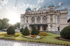 El teatro de Slowacki Fotos de archivo libres de regalías
