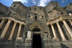 El teatro en Bosra Imagen de archivo