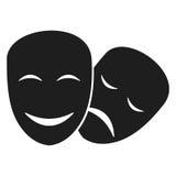 El teatro enmascara iconos stock de ilustración