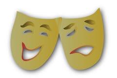 El teatro enmascara simple Foto de archivo libre de regalías