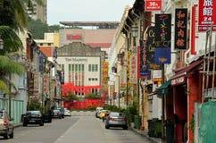 El teatro majestuoso, Chinatown: Teatro de la ópera del Cantonese de Singapur Foto de archivo