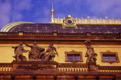 El teatro nacional en Praga Foto de archivo