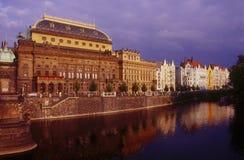 El teatro nacional en Praga Fotografía de archivo libre de regalías
