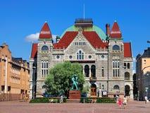 El teatro nacional finlandés, Helsinki Imagenes de archivo