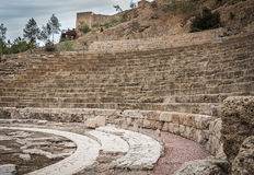 El Teatro Romano de Málaga Stock Photo