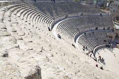 El teatro romano en Amman, Jordania Imágenes de archivo libres de regalías