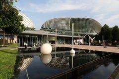 El teatro Singapur de la explanada Imagen de archivo