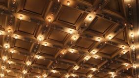 El teatro y el concierto Hall Ceiling con la carpa que destella retra se enciende en 1080p céntrico almacen de video