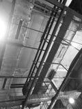 El techo de la fábrica Foto de archivo libre de regalías