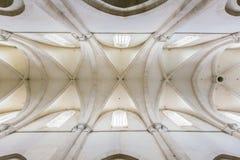 El techo en la catedral antigua Imagenes de archivo