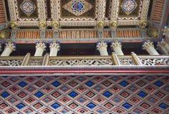 El techo hermoso en la entrada del castillo de Sammezzano Imagenes de archivo