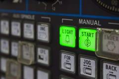 El teclado de la máquina del CNC Fotos de archivo