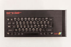 El teclado de ordenador del vintage en el robot y los fabricantes muestran Foto de archivo