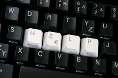 El teclado de ordenador negro Fotos de archivo libres de regalías