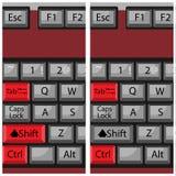 El teclado del botón de la combinación, pagina después y detrás Foto de archivo libre de regalías