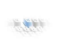 El teclado restaura clave Imagen de archivo libre de regalías
