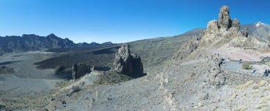 El Teide全景特内里费岛 免版税库存照片