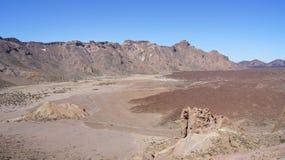 El Teide火山口 图库摄影