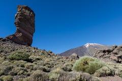 EL Teide con alta roccia Immagine Stock Libera da Diritti
