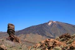 EL Teide della montagna nell'isola di Tenerife Fotografie Stock