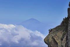 El Teide distante Imagen de archivo libre de regalías
