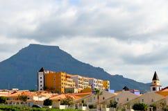EL Teide et hôtels Photographie stock
