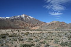 El Teide and the Llano de Uncanca Royalty Free Stock Photography
