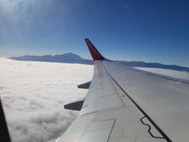 El Teide. Out of a plane Royalty Free Stock Photo