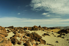 EL Teide, parque nacional (volcán, Tenerife) Fotos de archivo libres de regalías