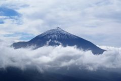 El teide poking out of clouds Stock Images