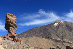 El Teide postcard Royalty Free Stock Image