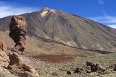 El Teide postcard Stock Photos