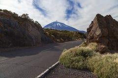 El teide road stock photography